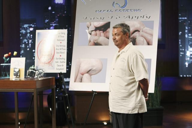 joe moore demonstrates first defense nasal screens on shark tank