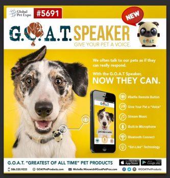 goat pet speaker